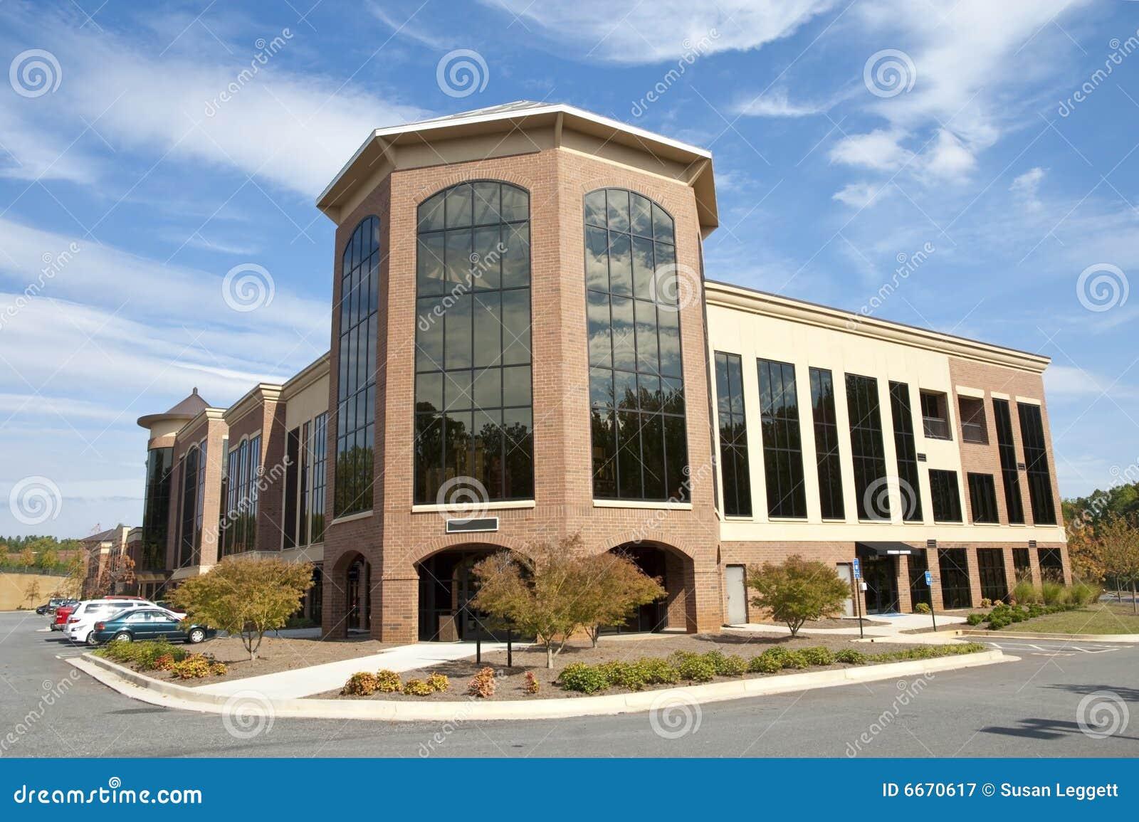 Immeuble de bureaux moderne image stock image du glace mail: 6670617