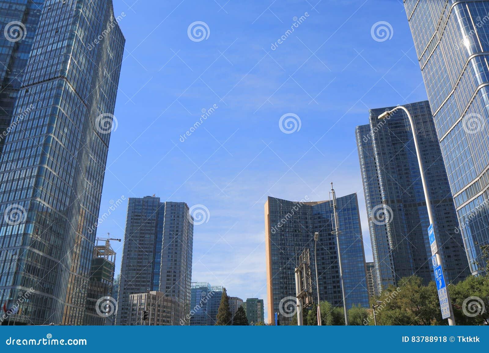 Immeuble de bureaux moderne darchitecture pékin chine photo stock