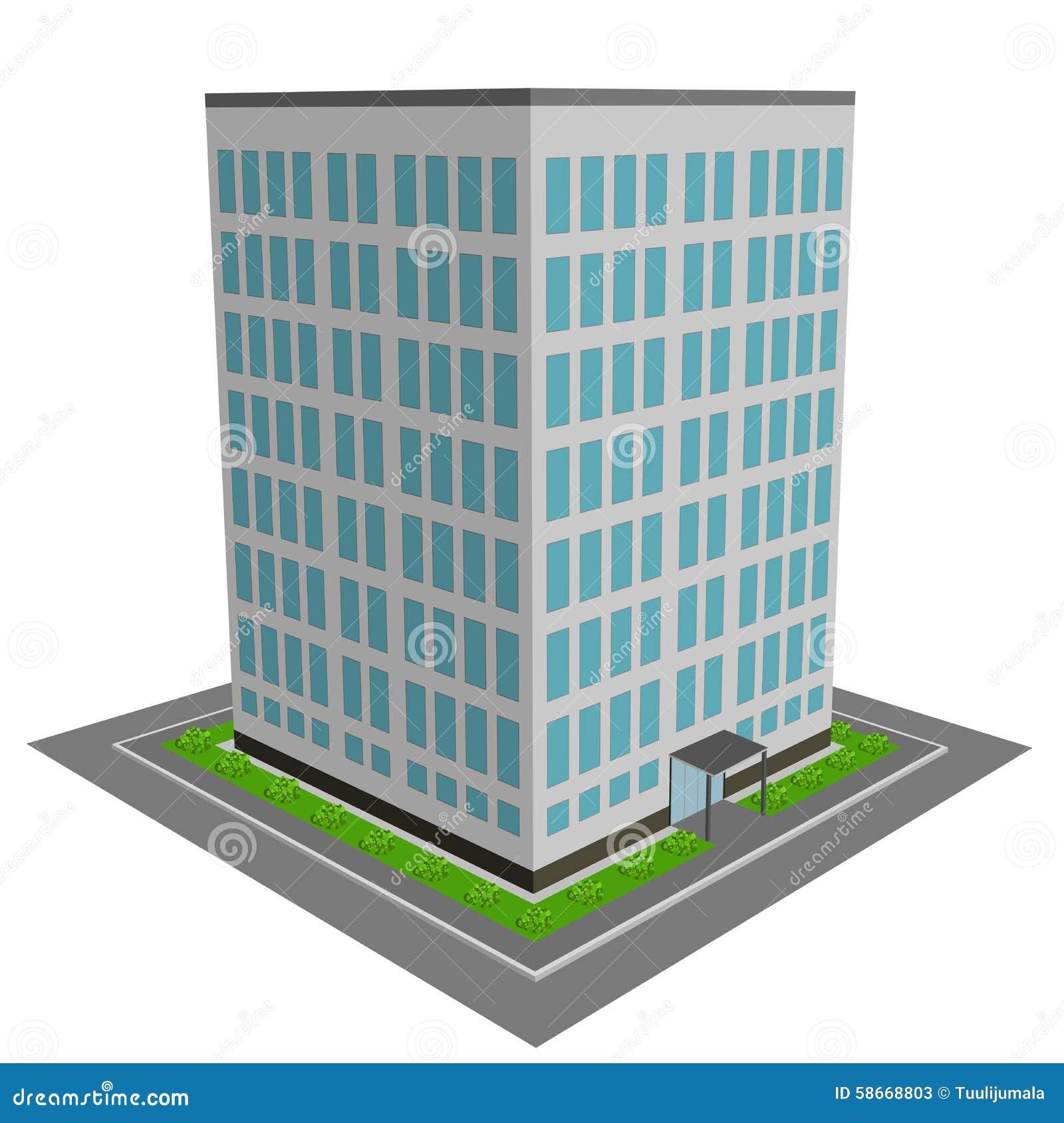 immeuble des bureaux 3d illustration de vecteur image 58668803. Black Bedroom Furniture Sets. Home Design Ideas