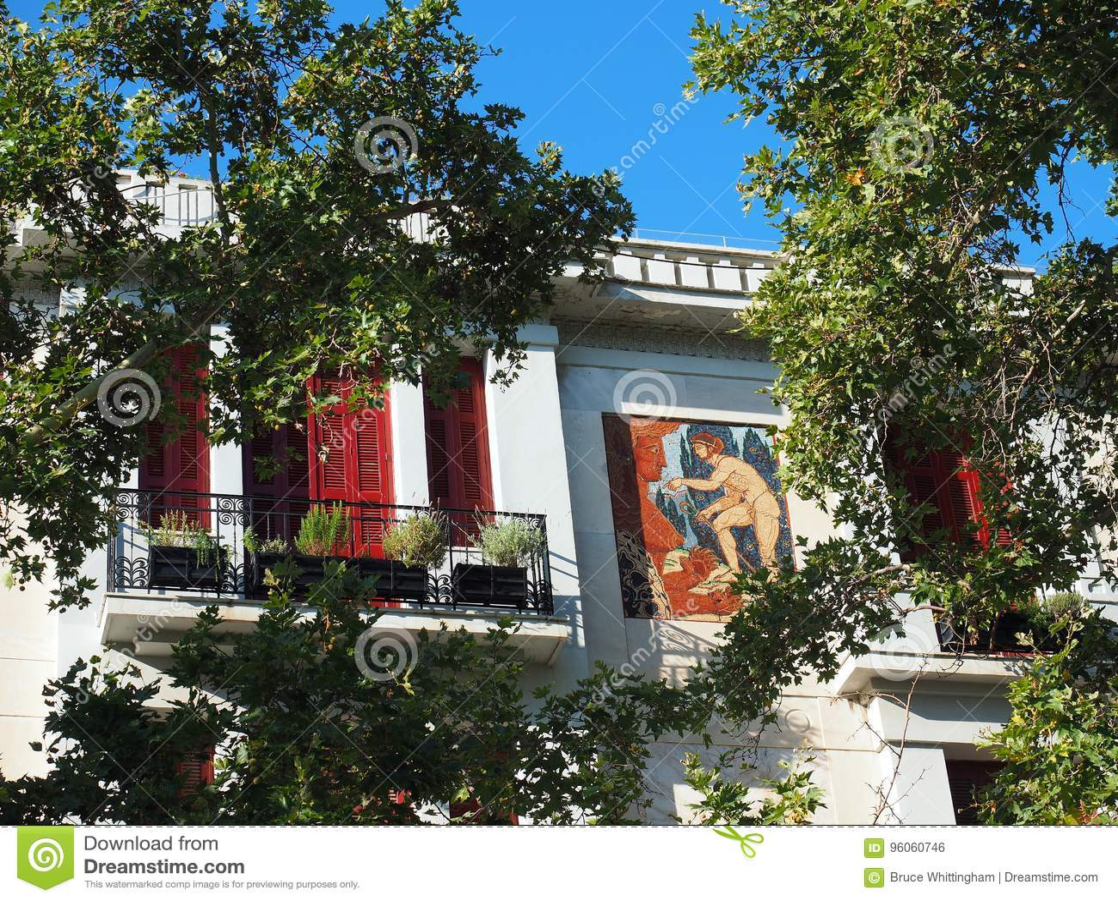 Immeuble, Makrygianni, Athènes, Grèce