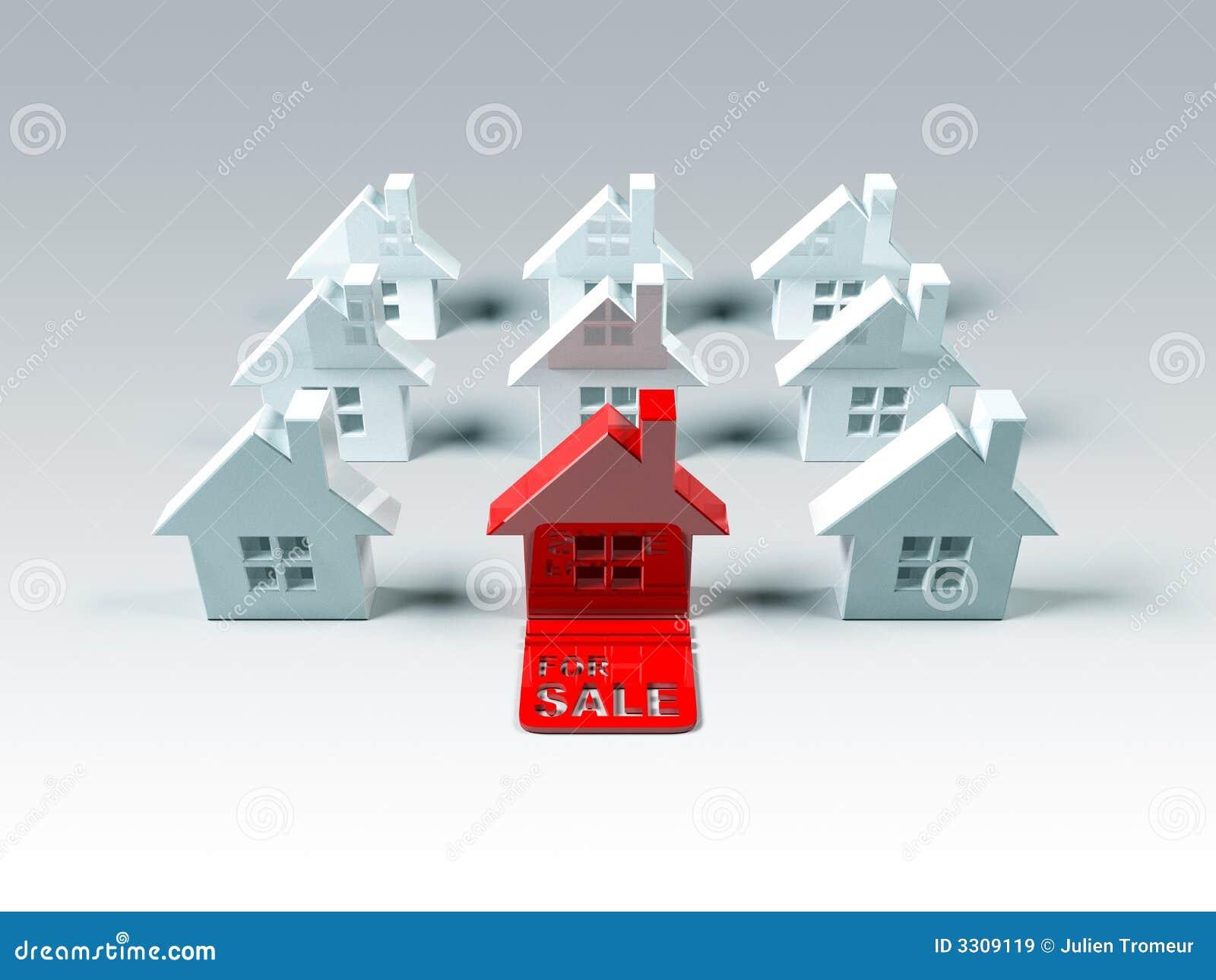 Immeubles en vente images libres de droits image 3309119 for Immeuble en vente