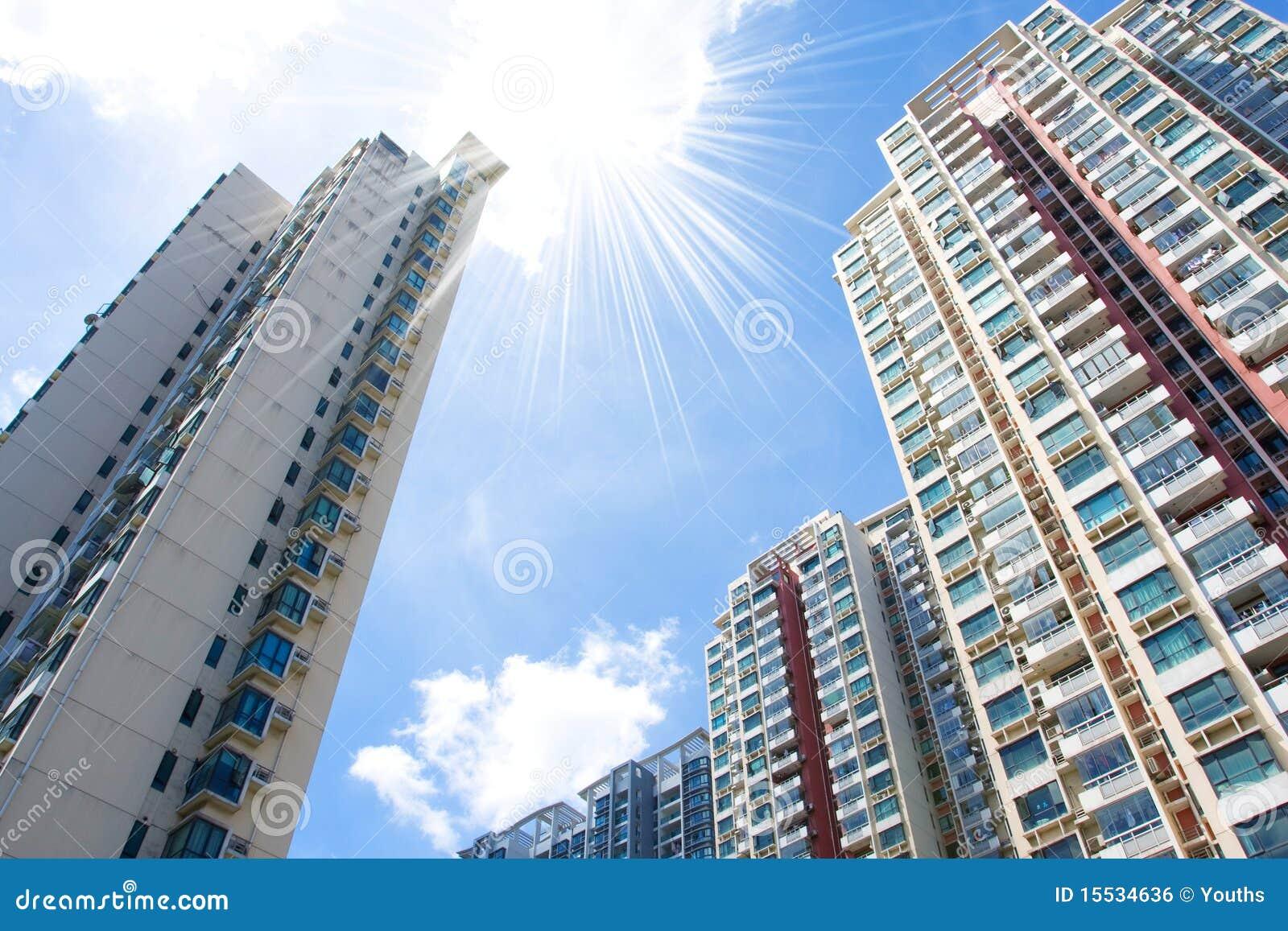 Immeubles modernes image libre de droits image 15534636 for Image immeuble moderne