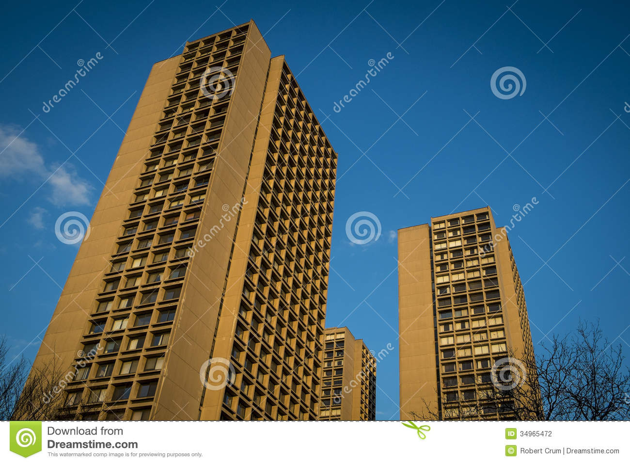 Immeubles modernes new york city photographie stock for Image immeuble moderne