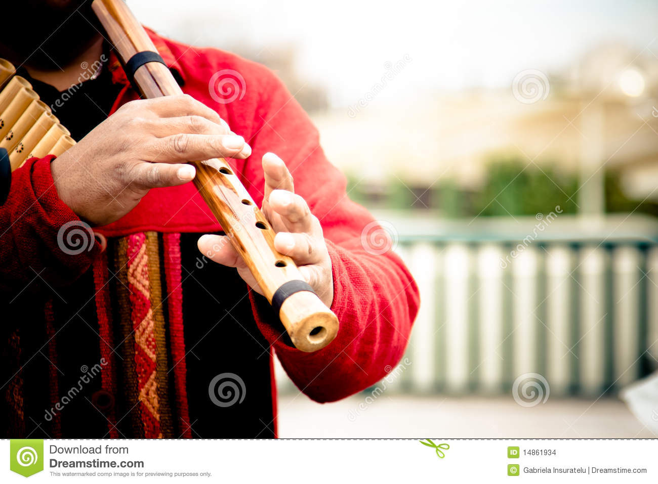 Immigrant playing music