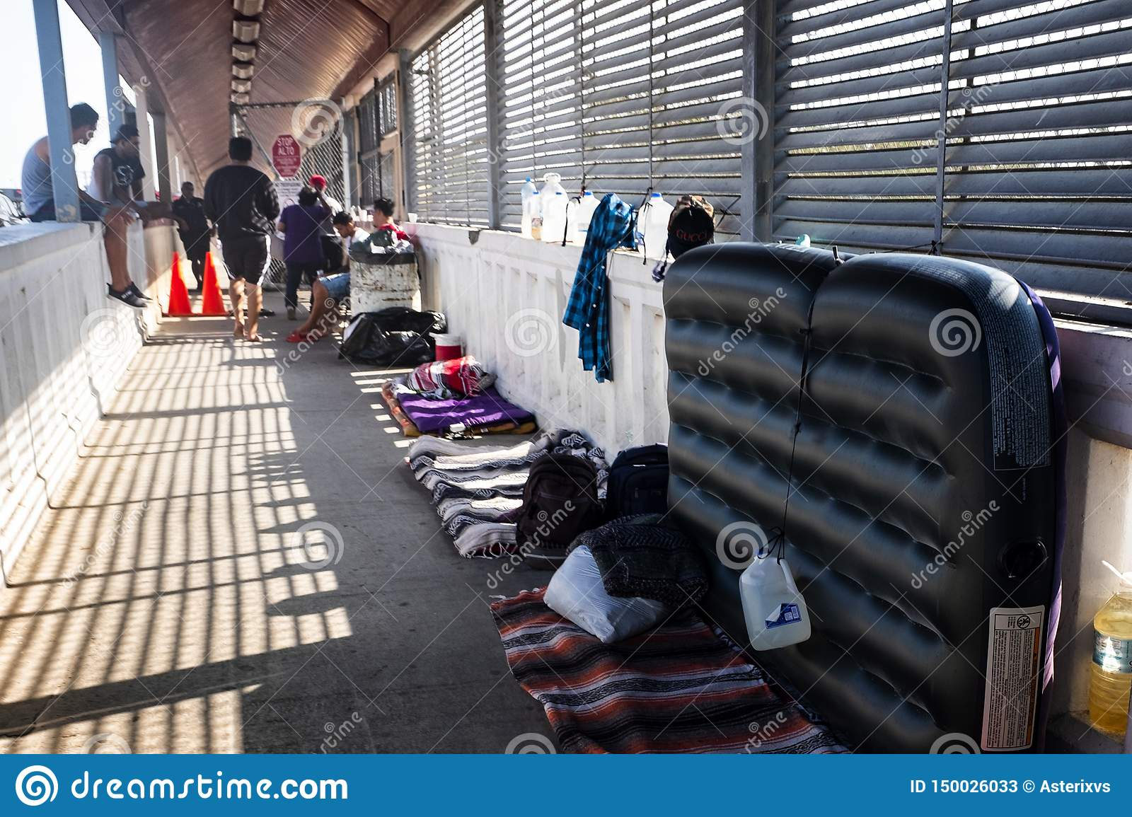 Immigrants At US Mexico Border Editorial Stock Photo - Image of