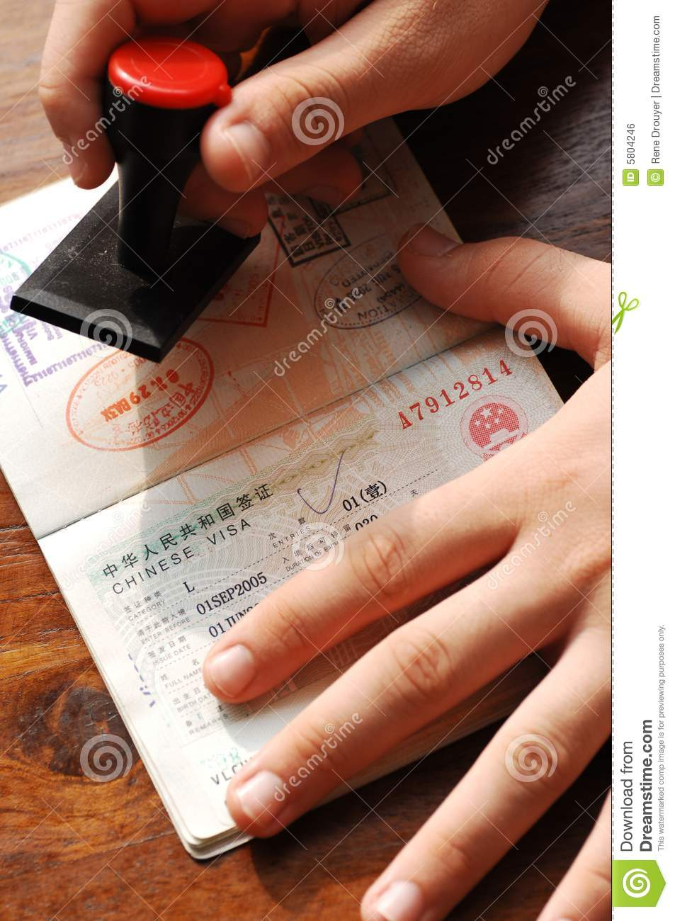 Immigration Control Stock Photo Image Of Stamp Officer 5804246
