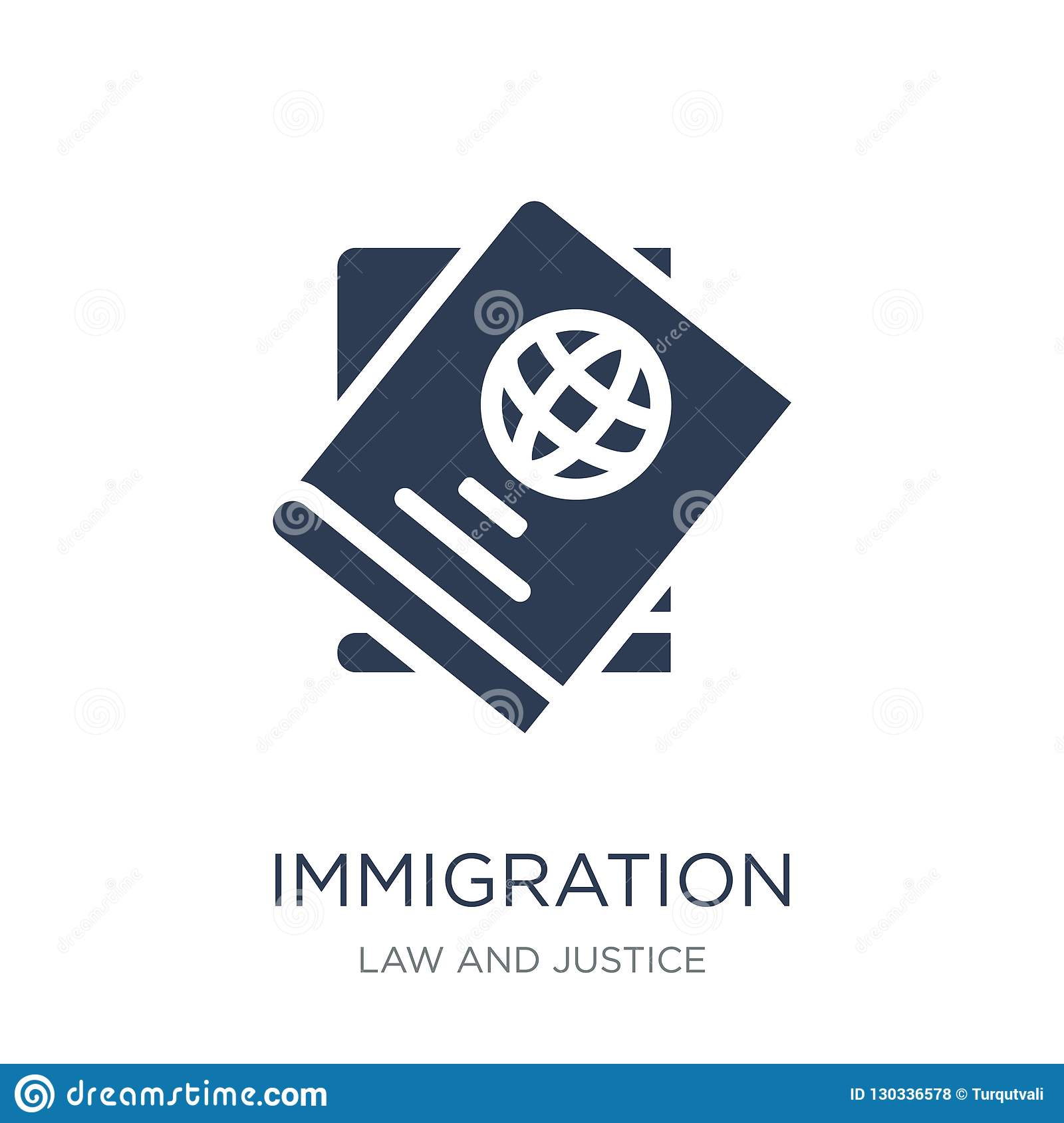immigration icon. Trendy flat vector immigration icon on white b