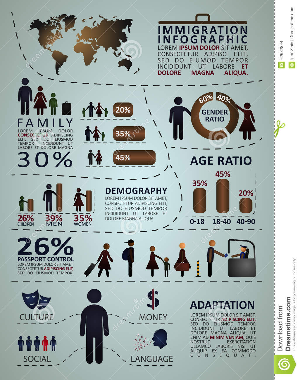 Immigration infographics with people and graphic statistics stock immigration infographics with people and graphic statistics stock vector illustration of immigrant custom 62632894 gumiabroncs Images