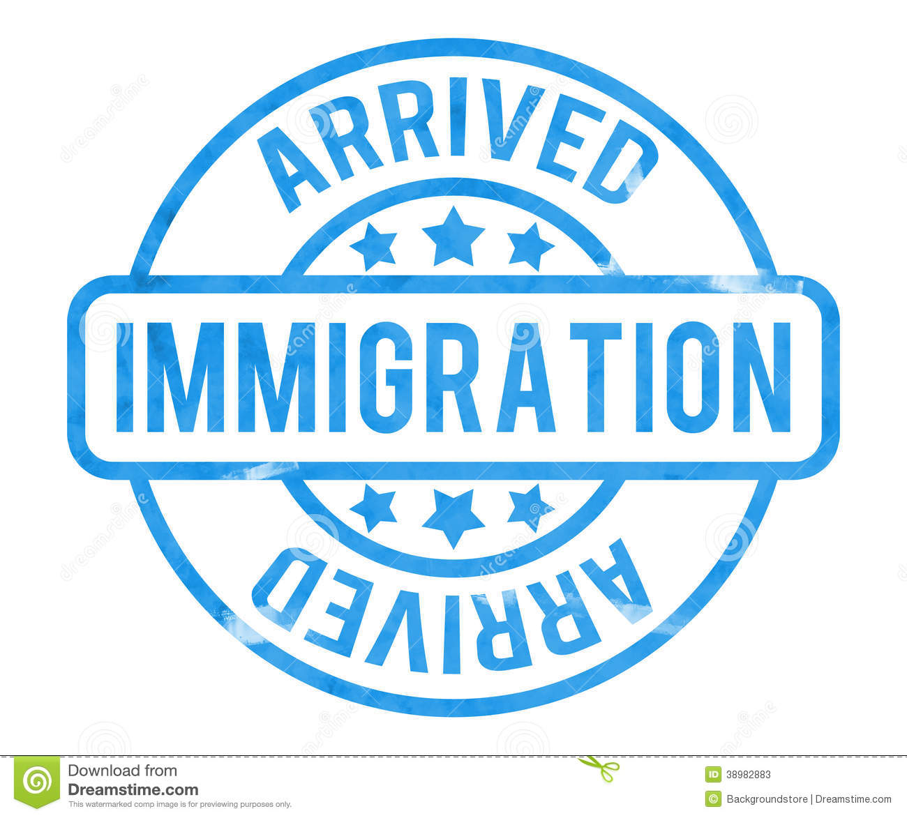 Immigration Stamp stock illustration. Illustration of ...