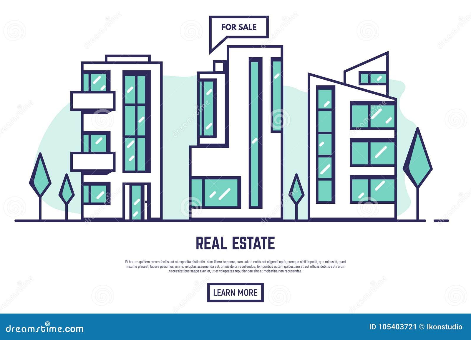 Immobilien der modernen Stadt