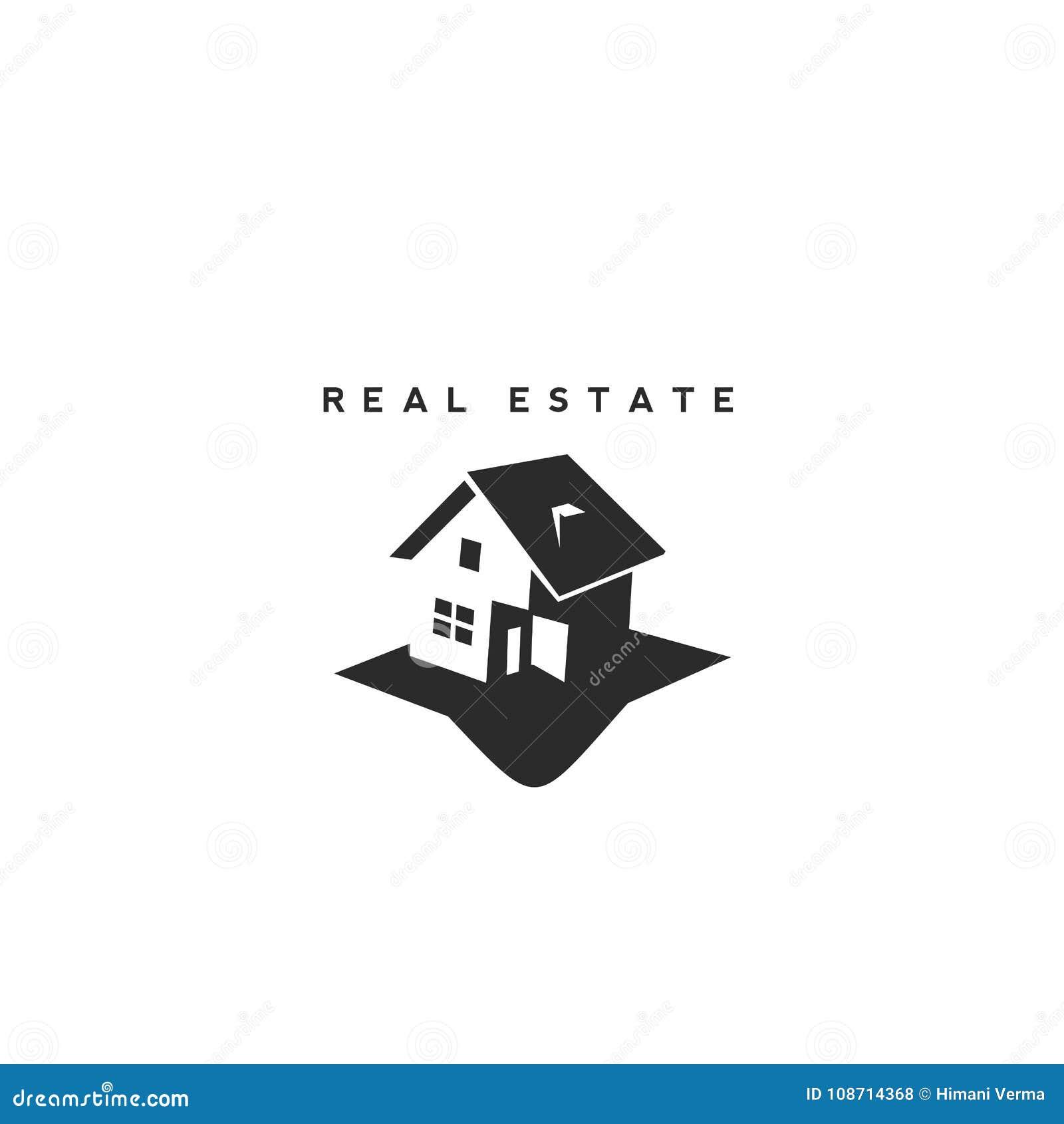 Immobilienvektorlogo-Designschablone