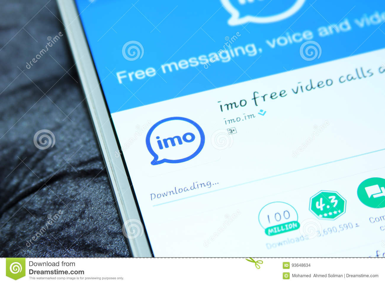 Imo messenger mobile app editorial stock image  Image of
