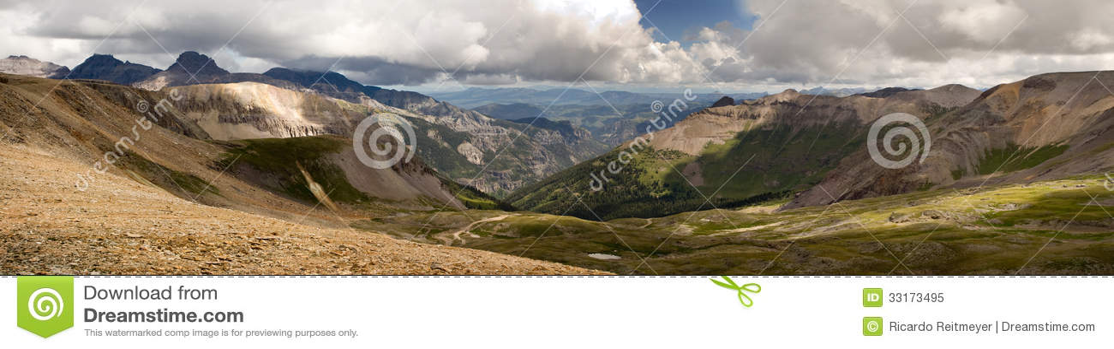 Imogene Pass Ouray Colorado Mountain Top Panoramic Royalty