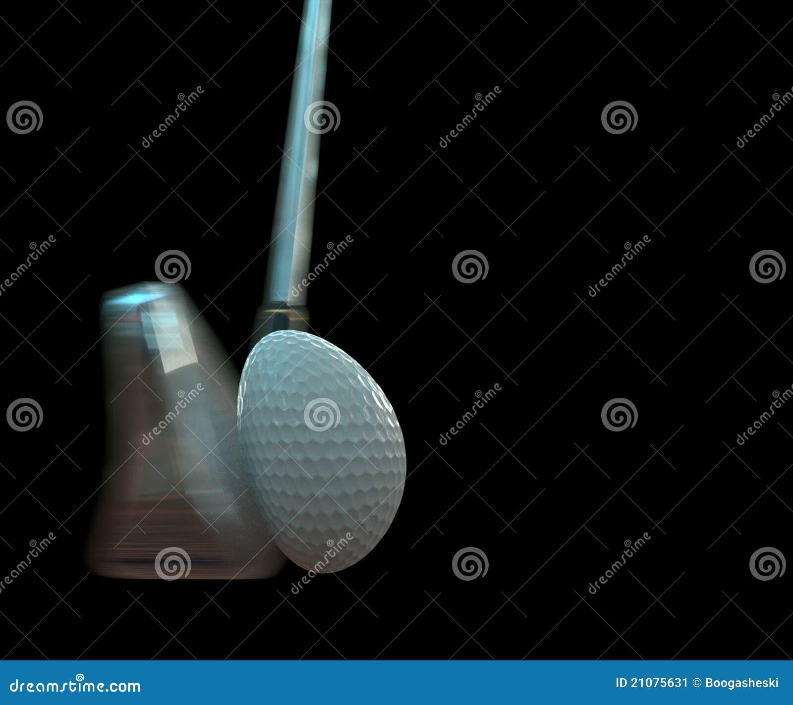 Impacto de la pelota de golf