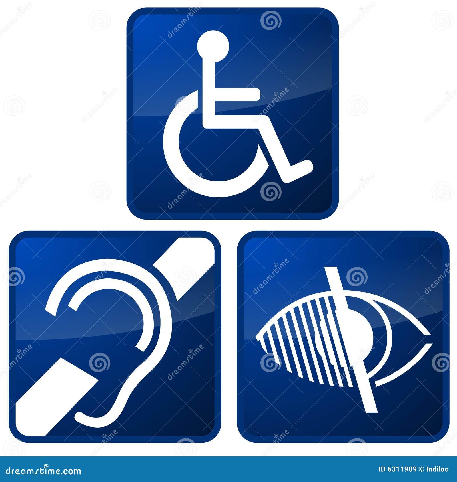 Impaired Symbols Stock Illustration Illustration Of Mute 6311909