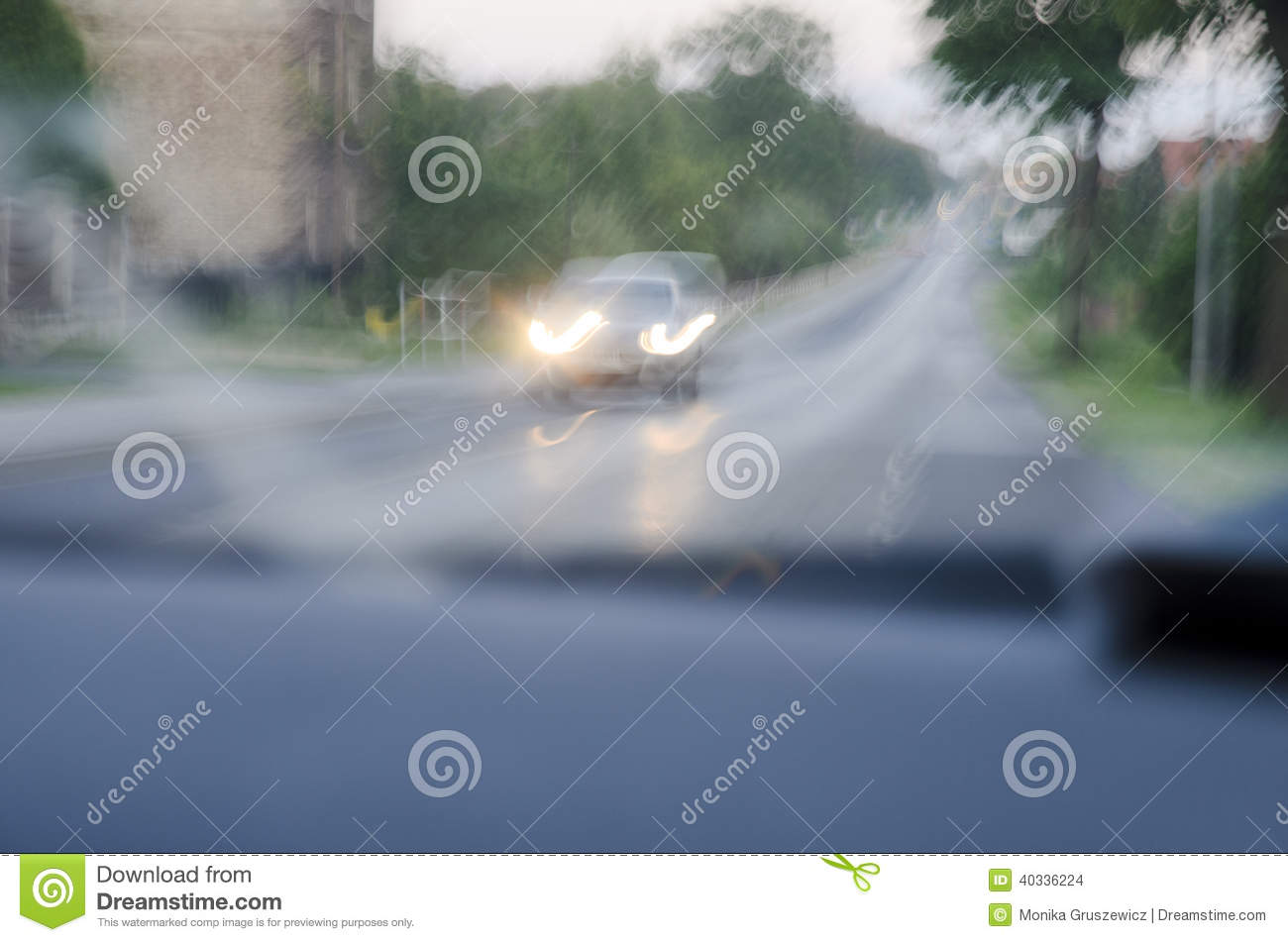 Impaired Vision After Alcohol. Stock Photo - Image: 40336224