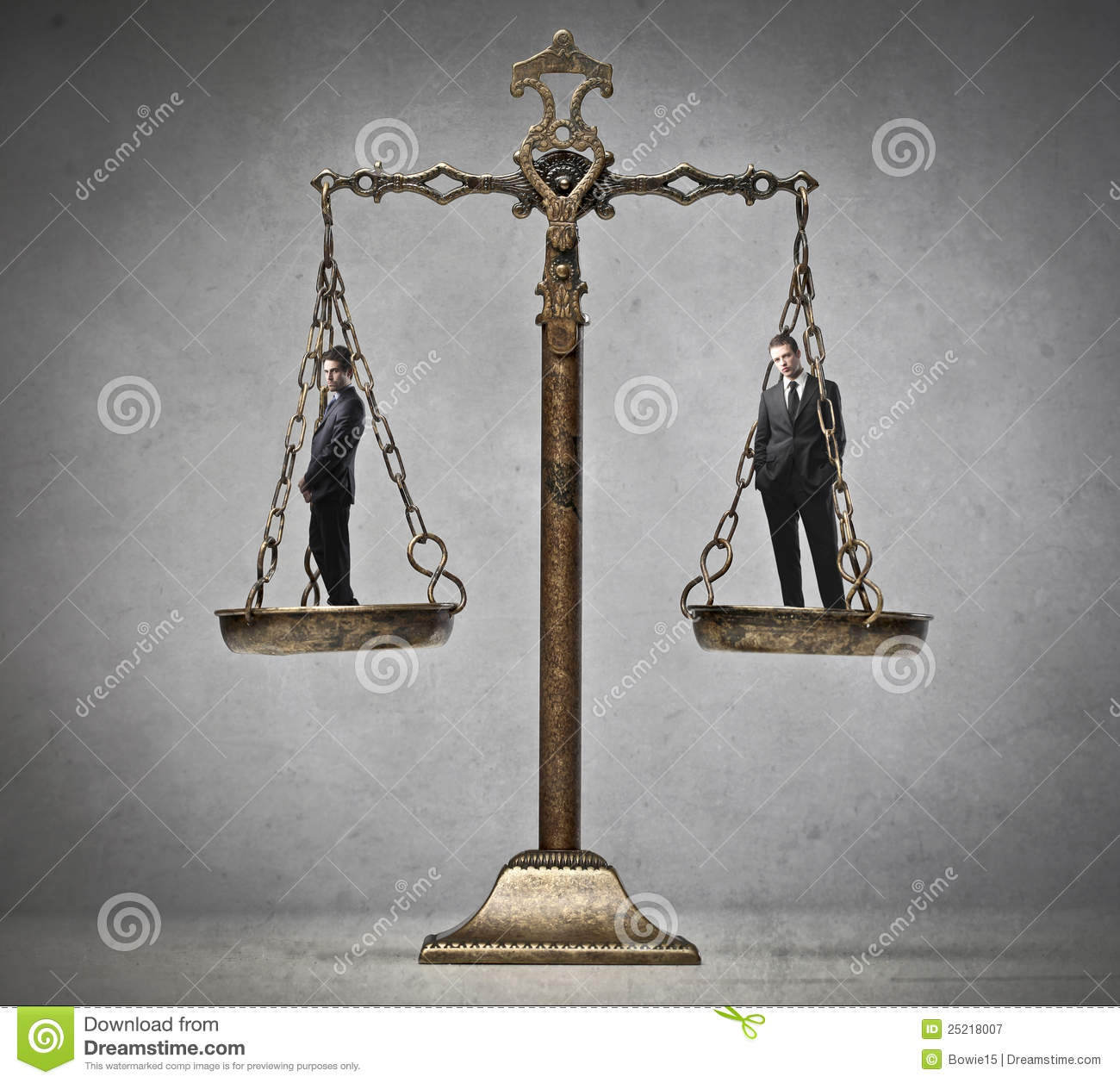 Impartial Judgement Royalty Free Stock Photography