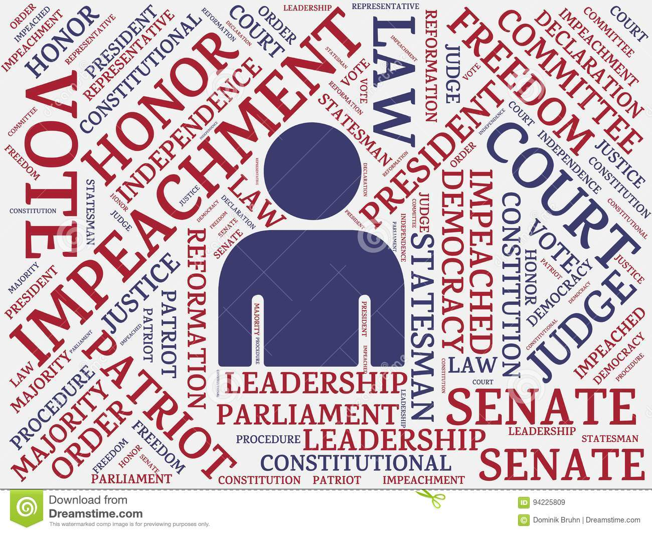 Impeachment Image With Wordsociated With The Topic Impeachment Word Cloud Cube Letter Image Il Ration