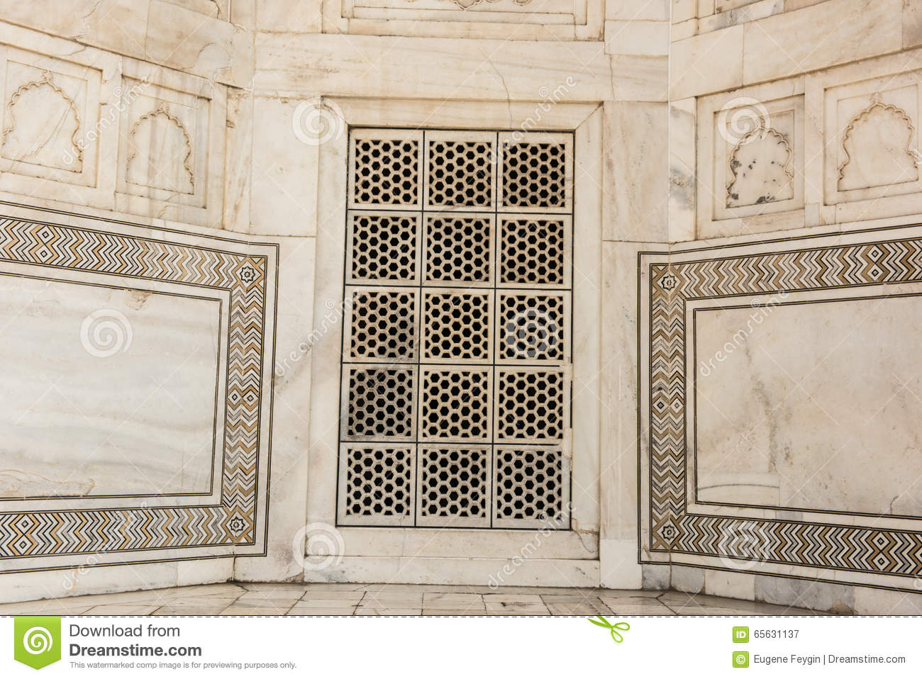 Marble Designs marble designs in taj mahal stock photo - image: 72473880
