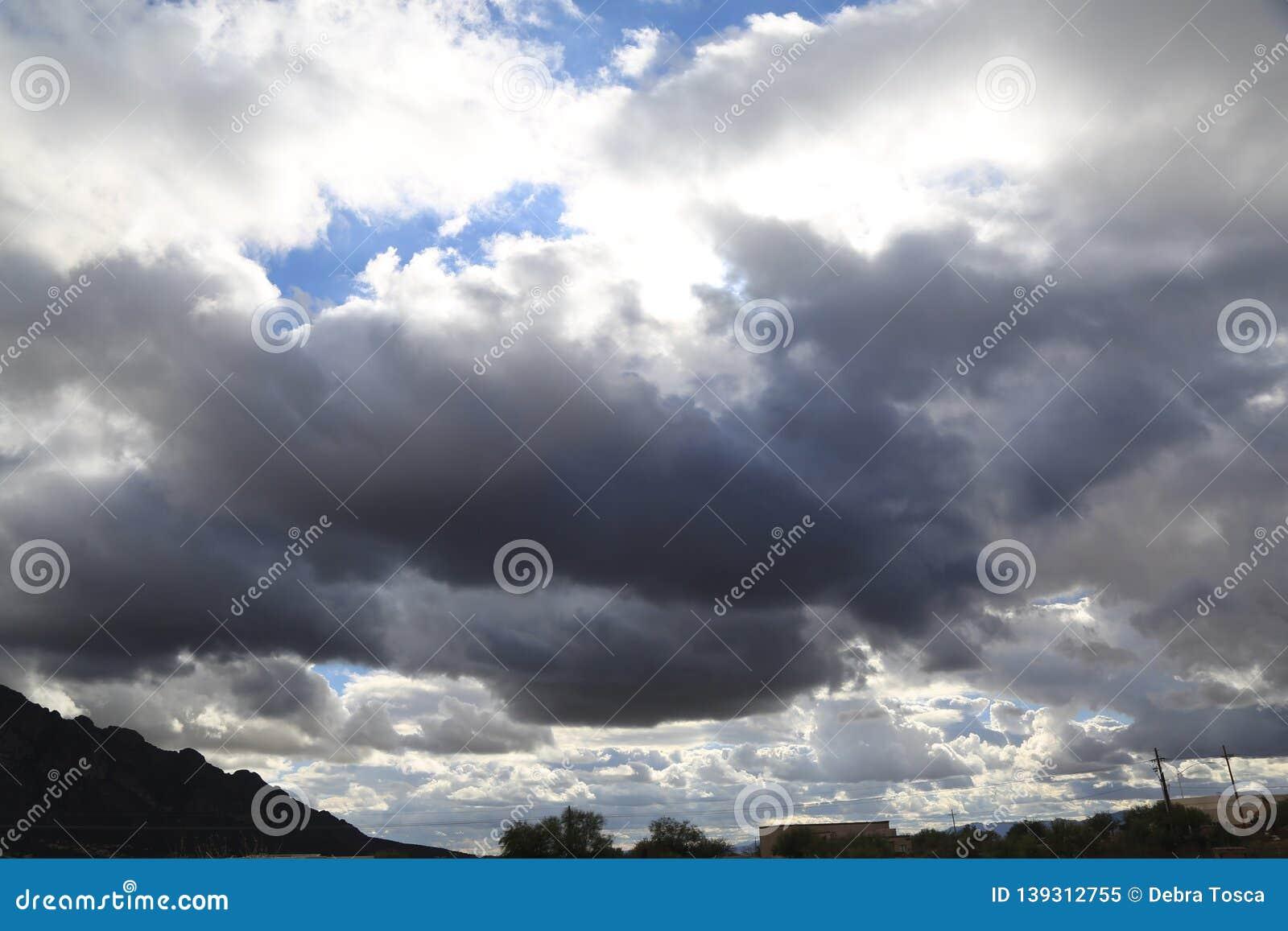 Ominous cloud cover
