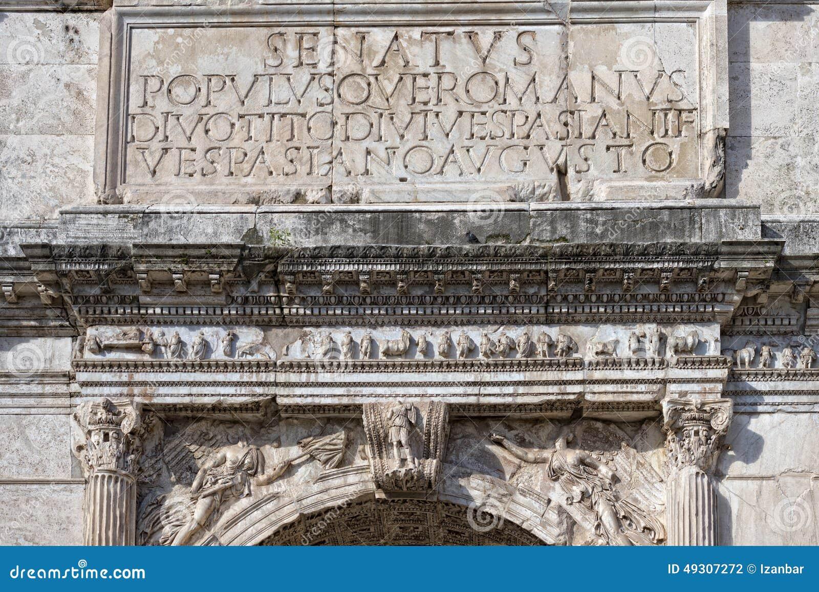 Imperator augustus надписи SPQR римское