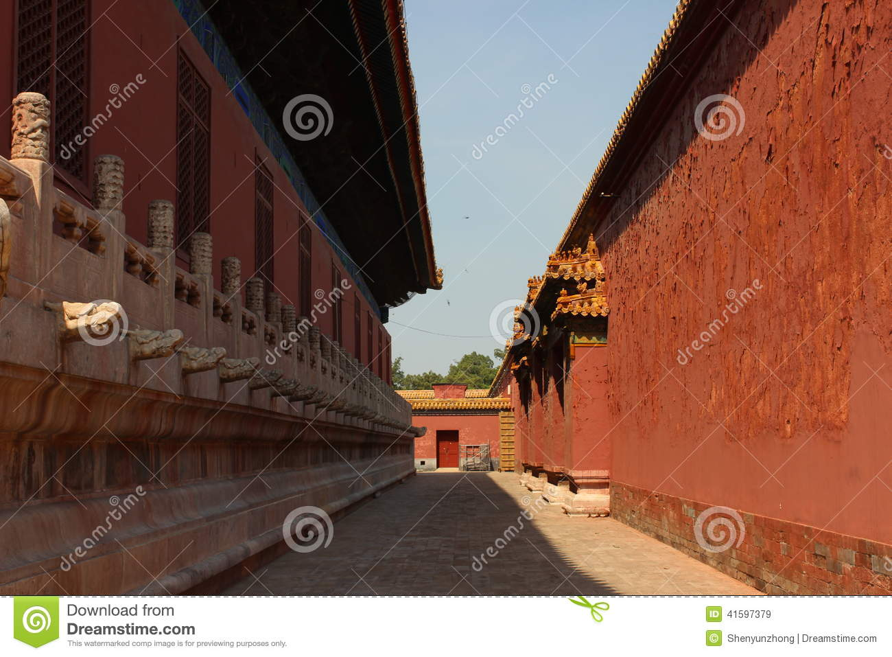 The Imperial Ancestral Temple Stock Image - Image of doorway