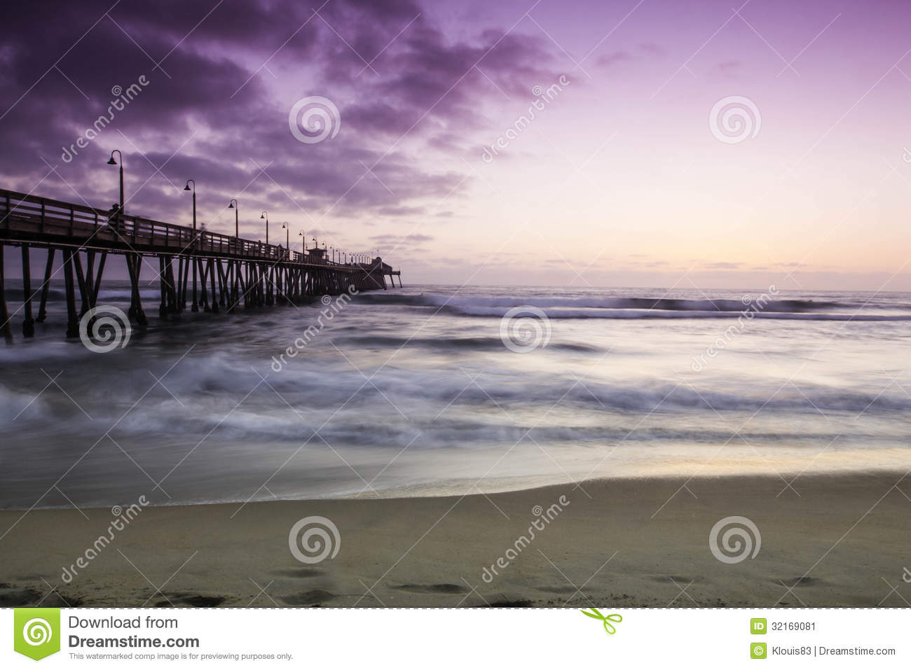 Imperial Beach California stock image  Image of clouds