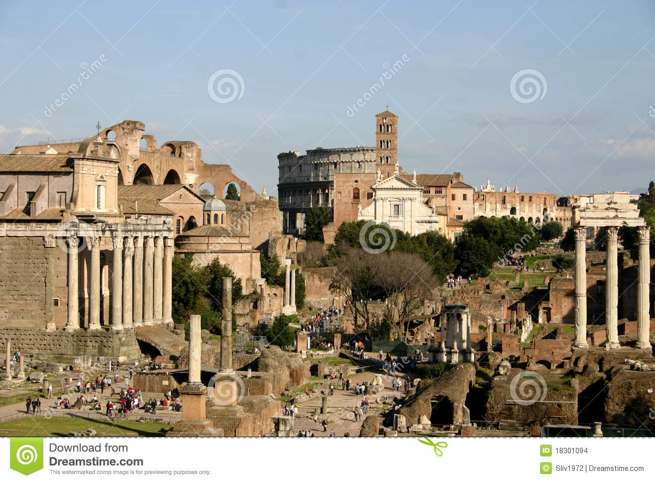 Imperial forums in Rome