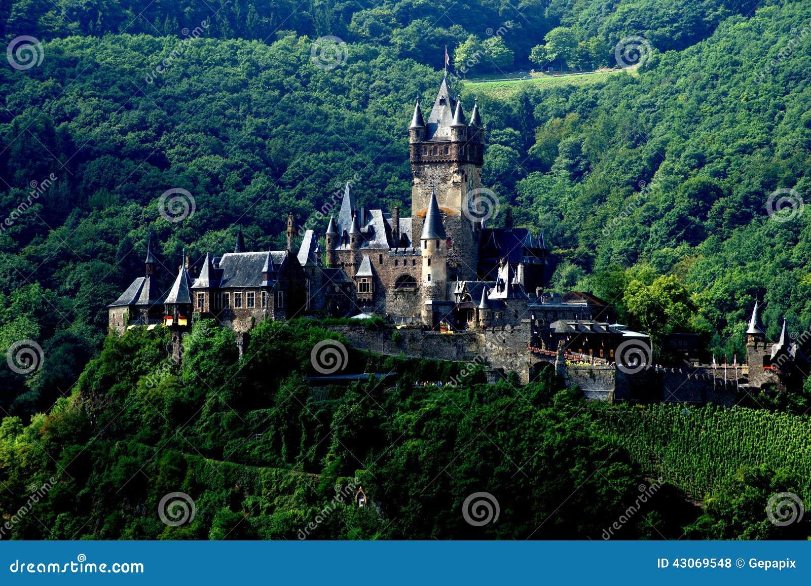 Imperialistisk slott av Tyskland på Cochem