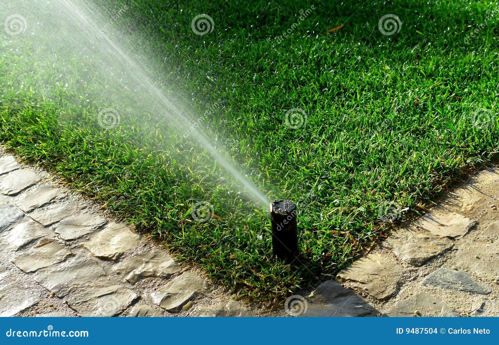 Impianto di irrigazione del giardino immagini stock for Irrigazione giardino