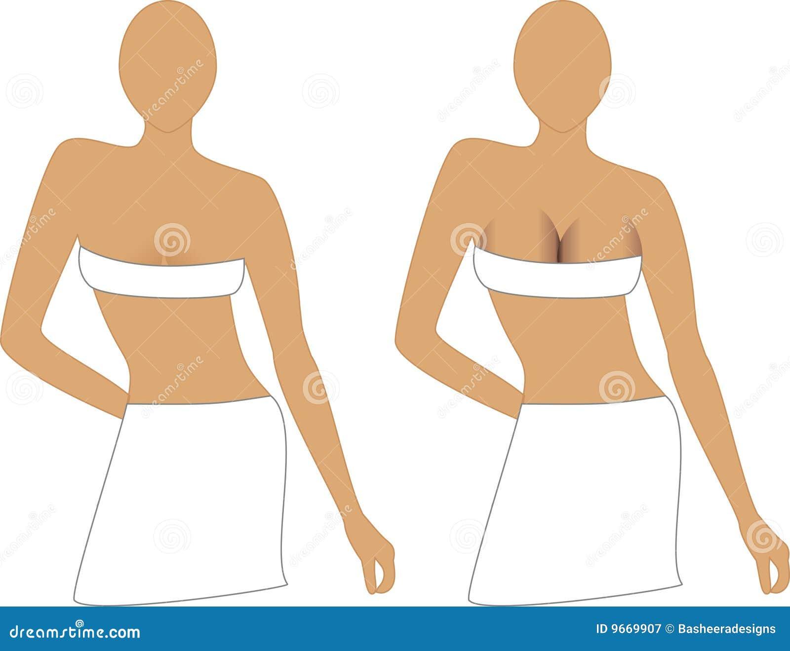 Sutiã o tamanho de peito crescente