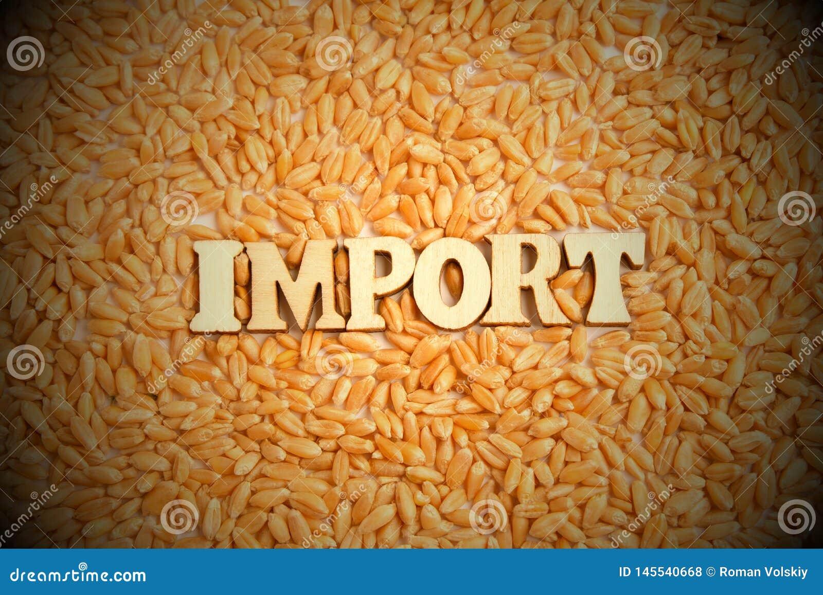 Import av vetekornbegreppet Inskriften av tr