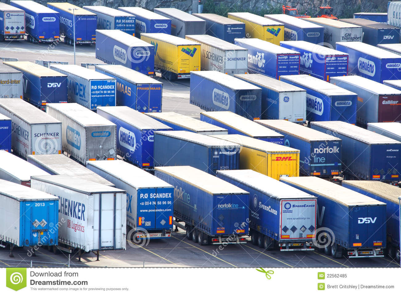 Import and export trailers