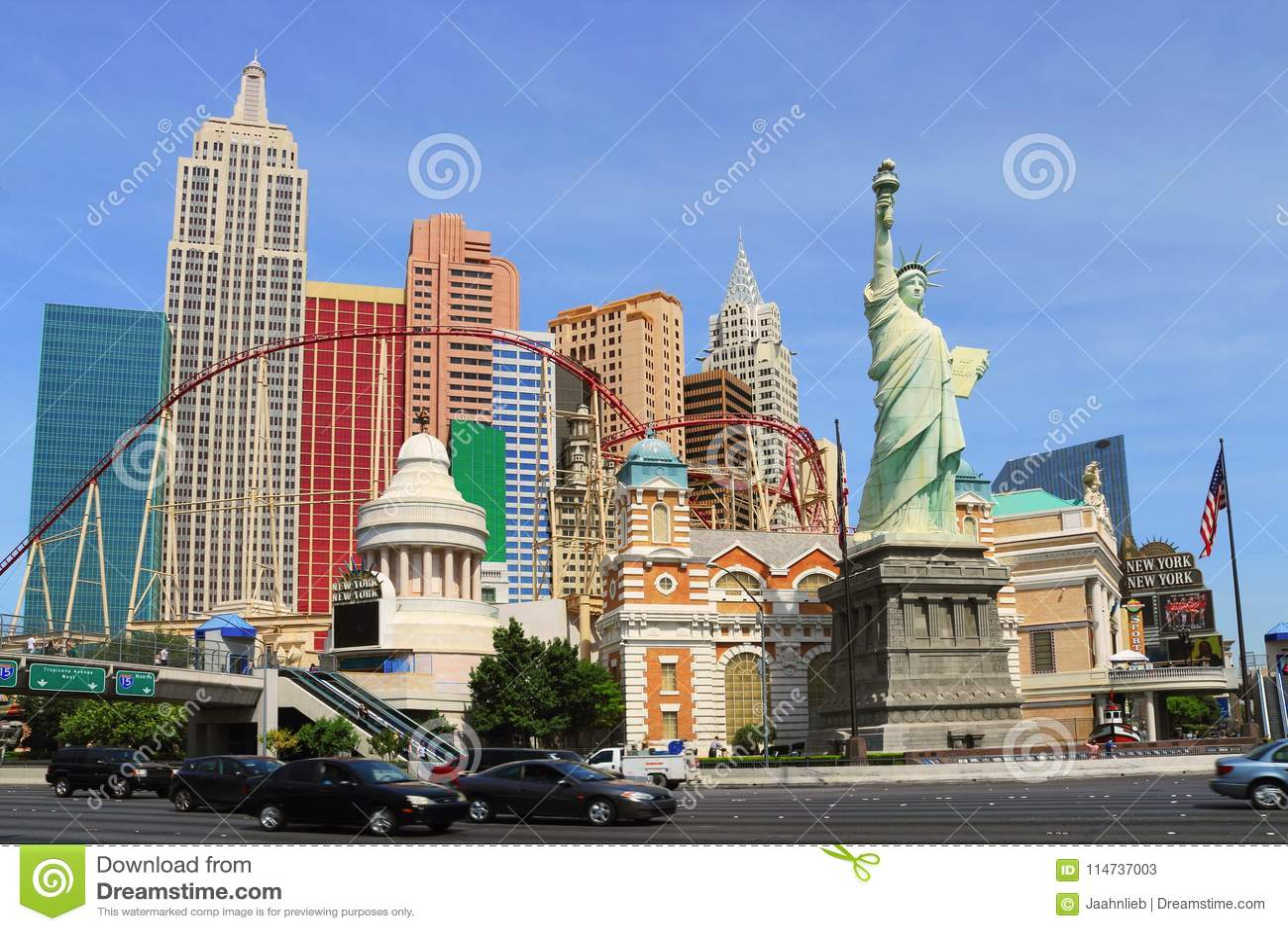 The Imposing New York New York Hotel And Casino In Las Vegas Nevada