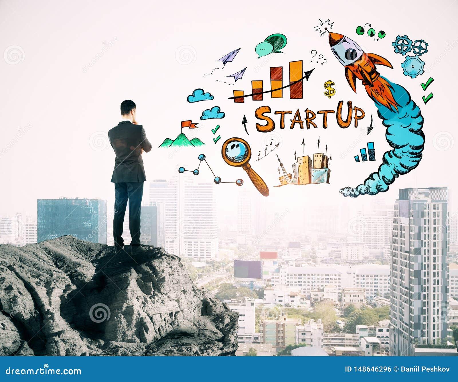 Imprenditore e concetto di partenza