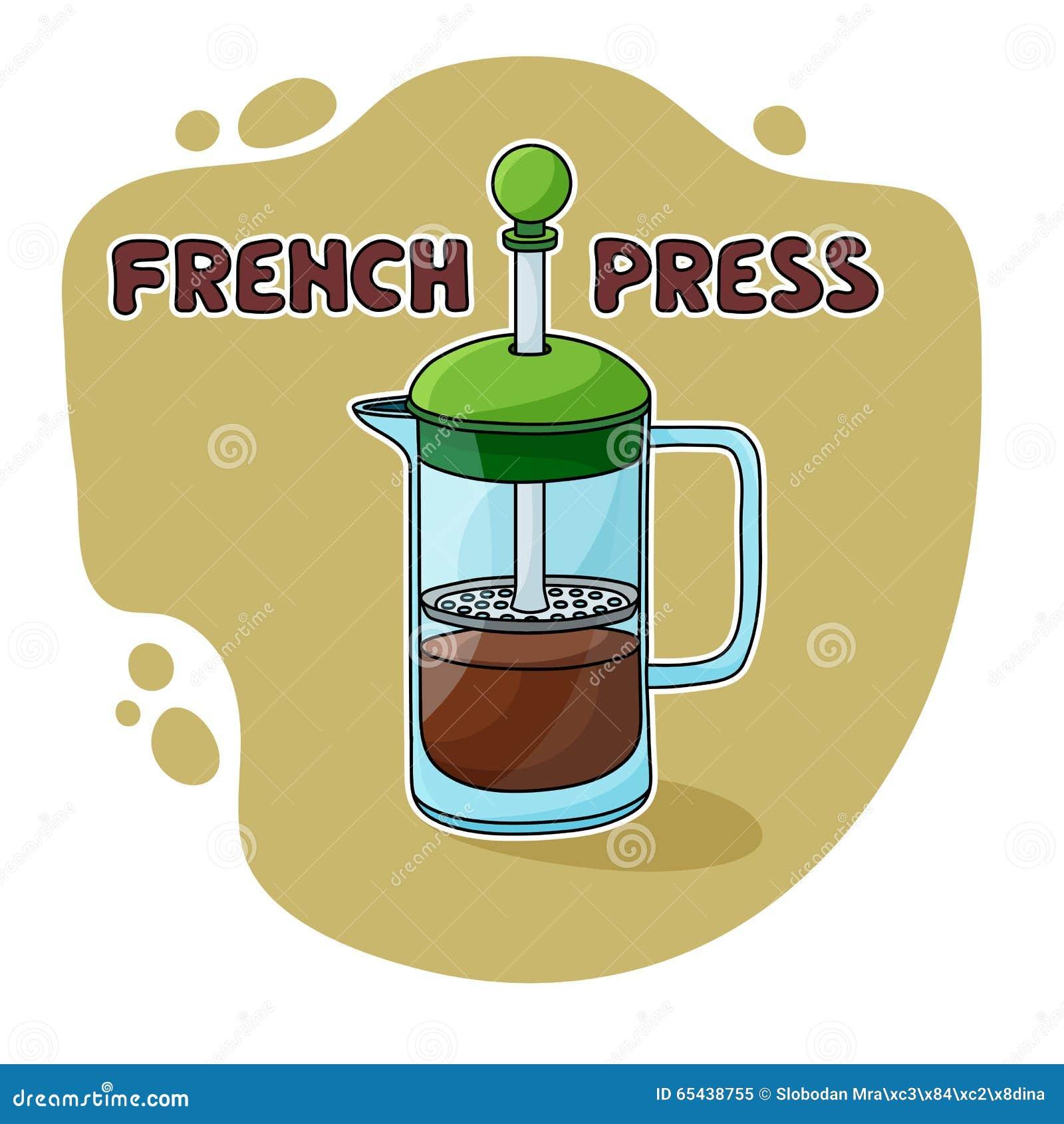 Imprensa do francês para a fabricação de cerveja do café