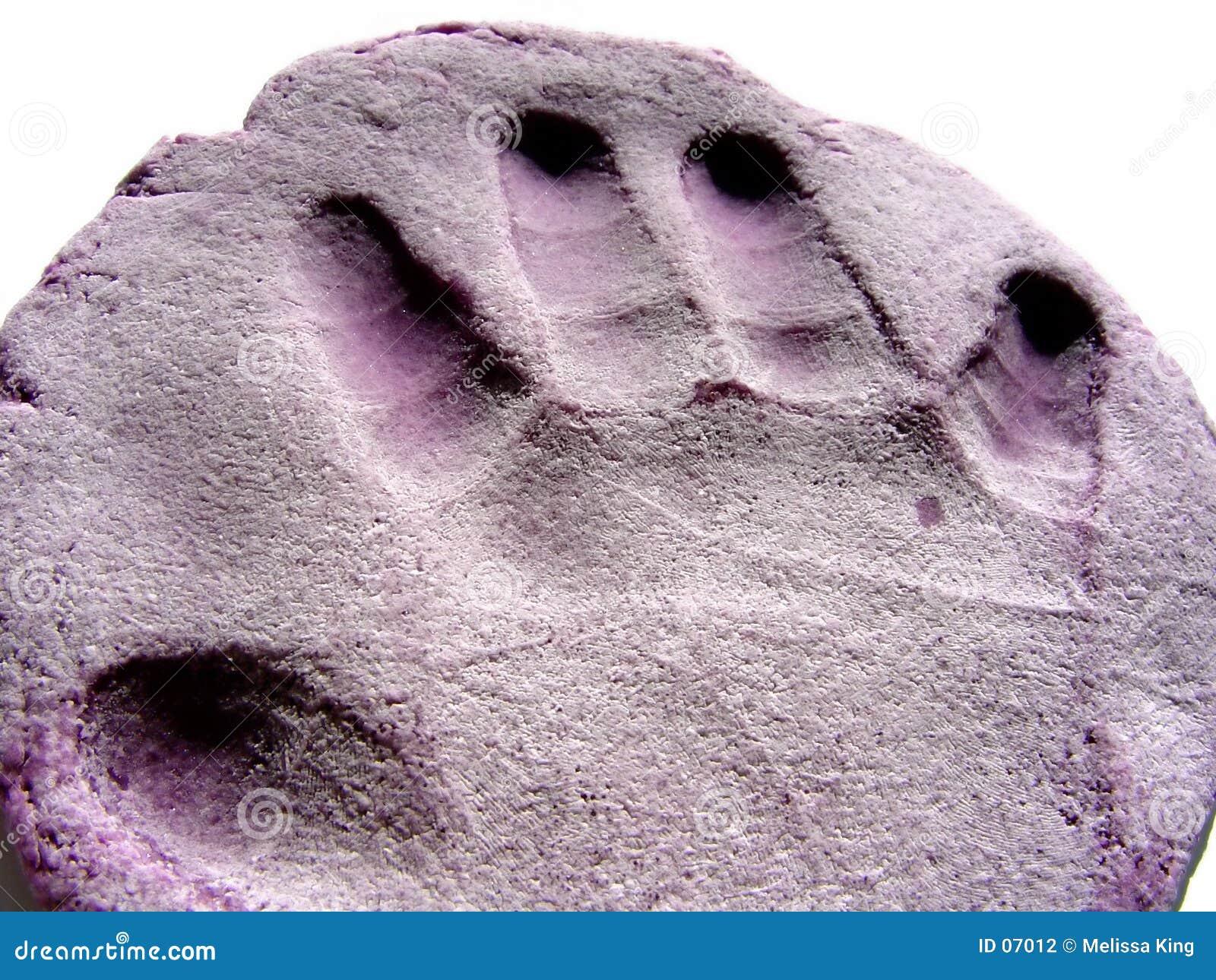 Impresión de la mano de Playdough