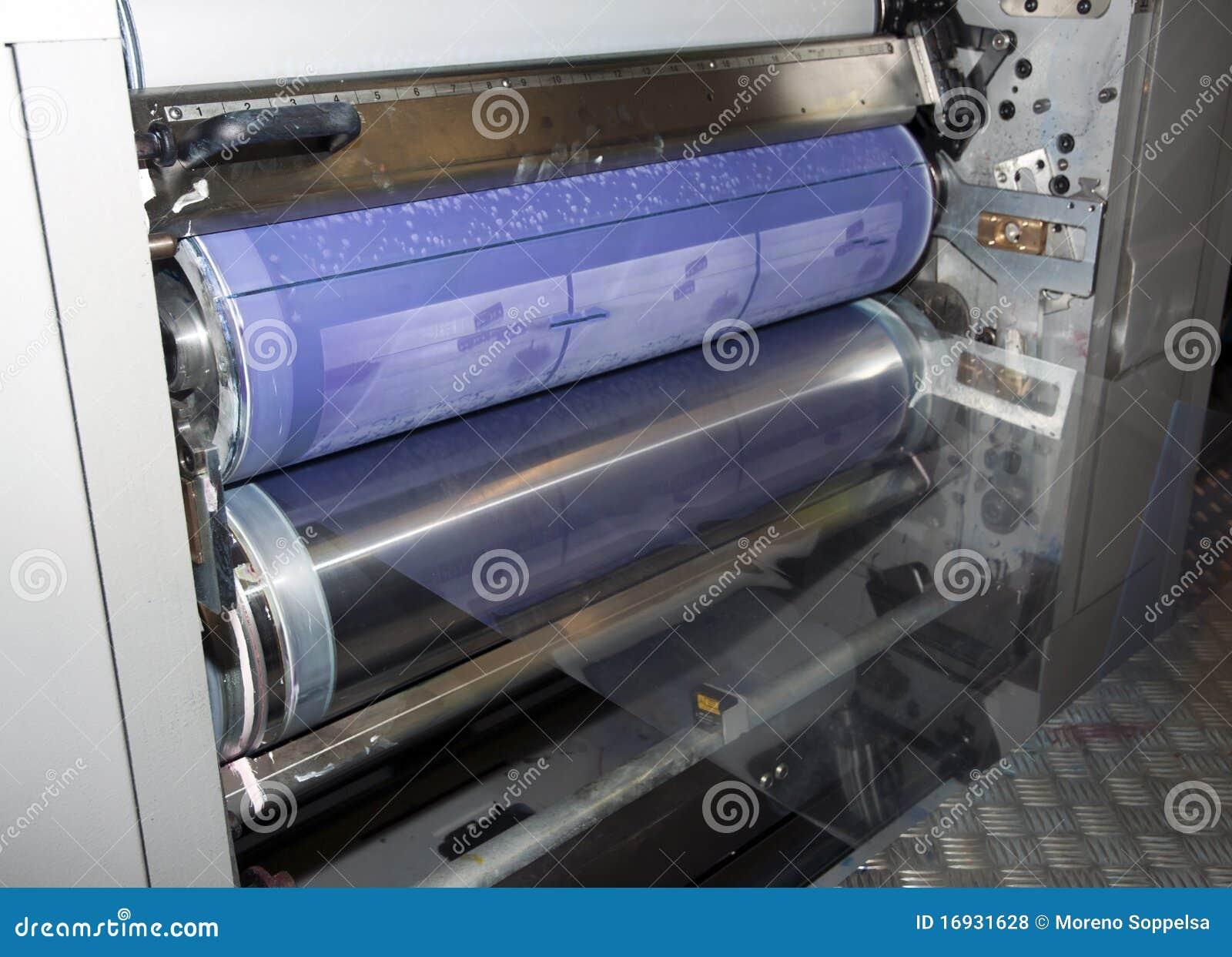 Impresión de la prensa (imprenta) - compense, detalle