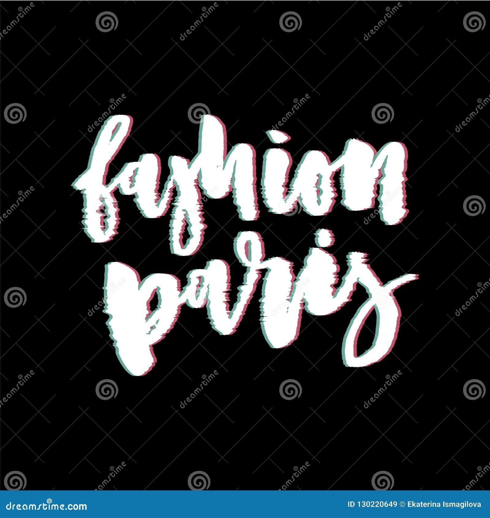 Impresión del vector de París de la moda del lema de la interferencia para la impresión de la camiseta