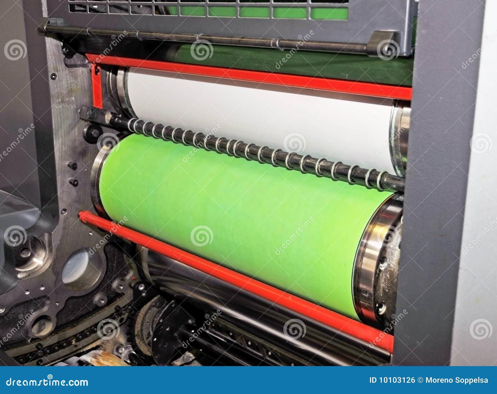 Impresión - prensa compensada, detalle