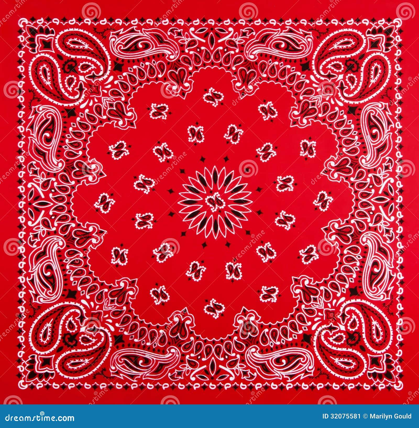 1292c897 Impresión roja del pañuelo imagen de archivo. Imagen de gould - 32075581