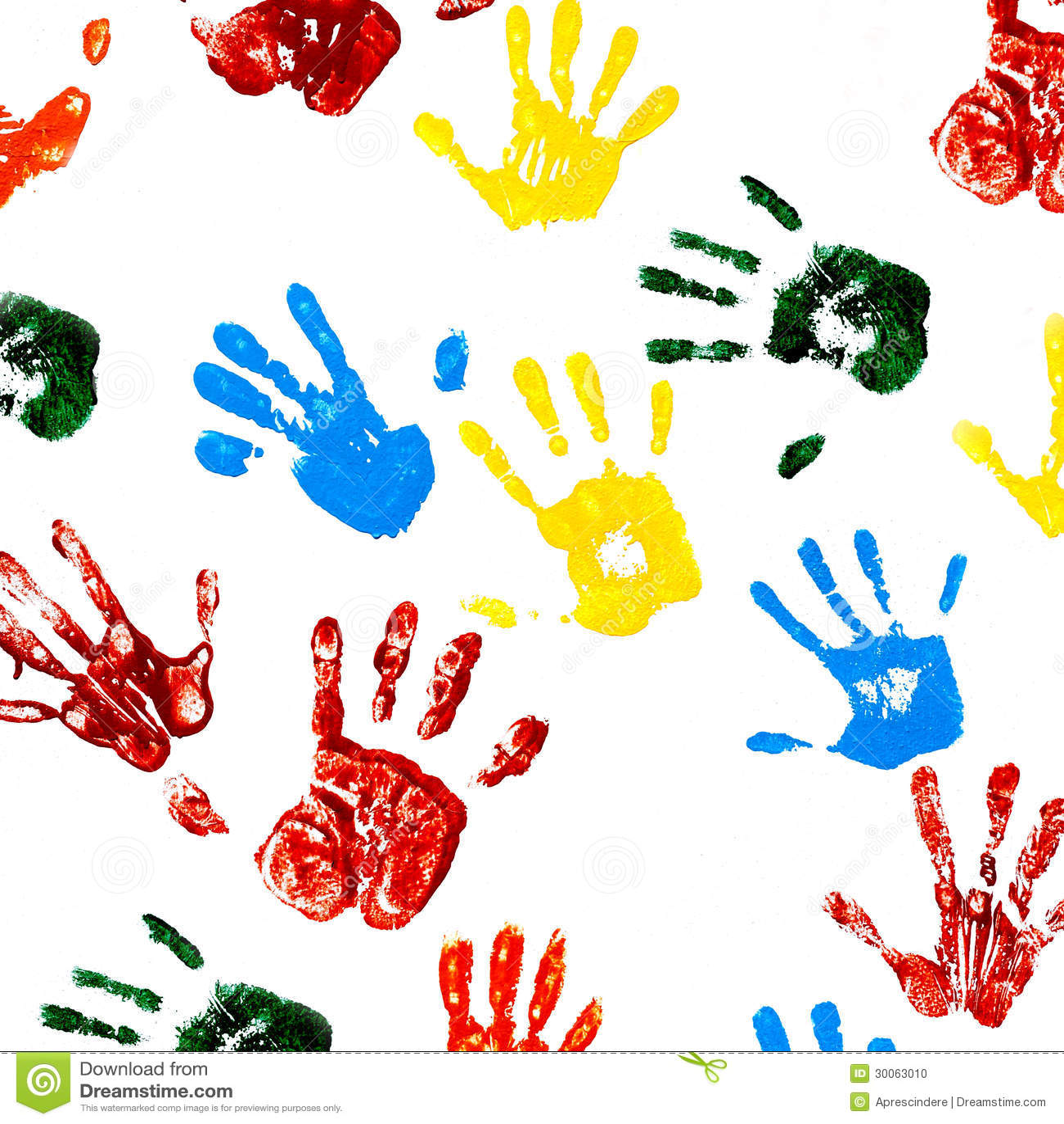 Impresiones de manos del ni o foto de archivo imagen - Ninos pintando con las manos ...