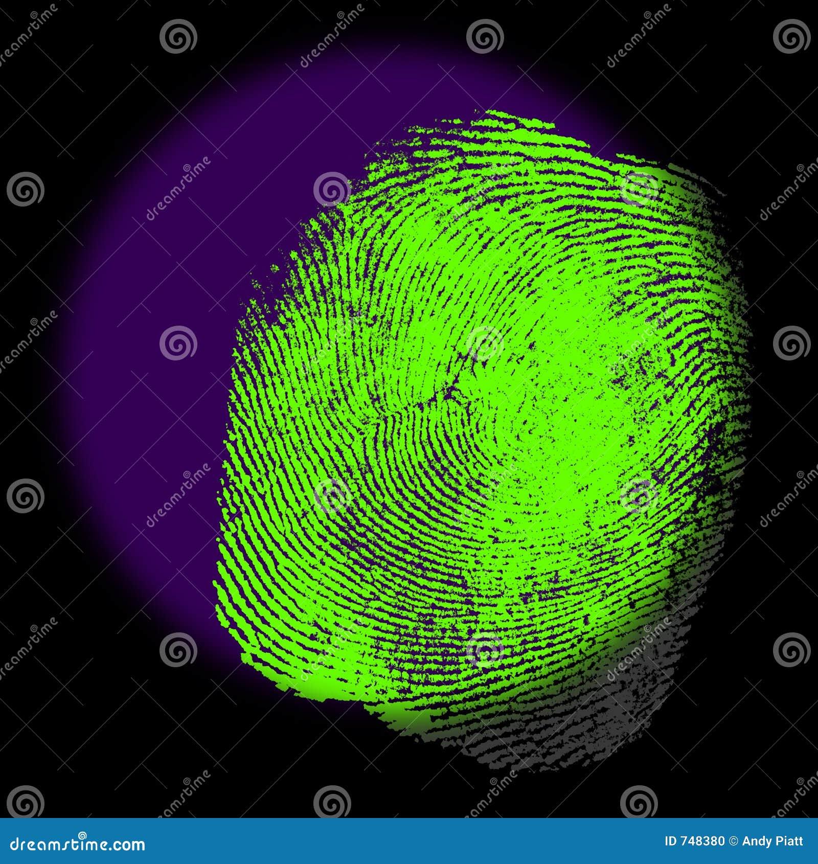 Impressão digital sob a luz UV