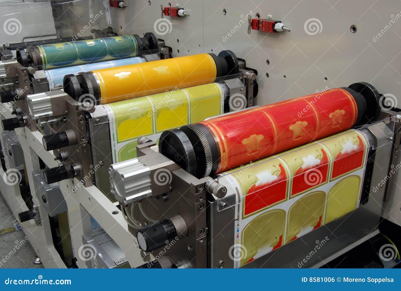 Impressão UV da imprensa do flexo