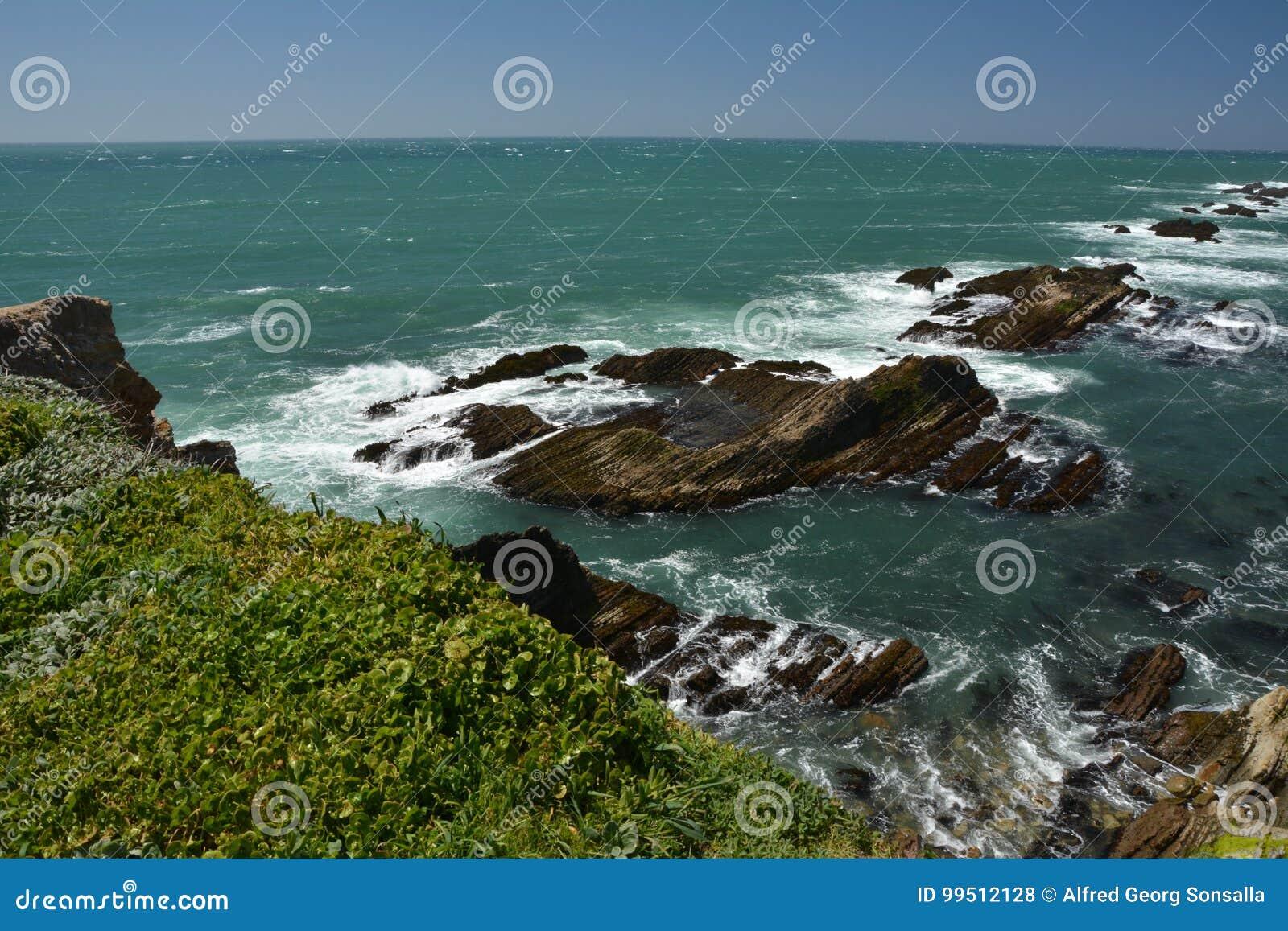 Impressões das Costas do Pacífico da luz da arena do ponto, Califórnia EUA