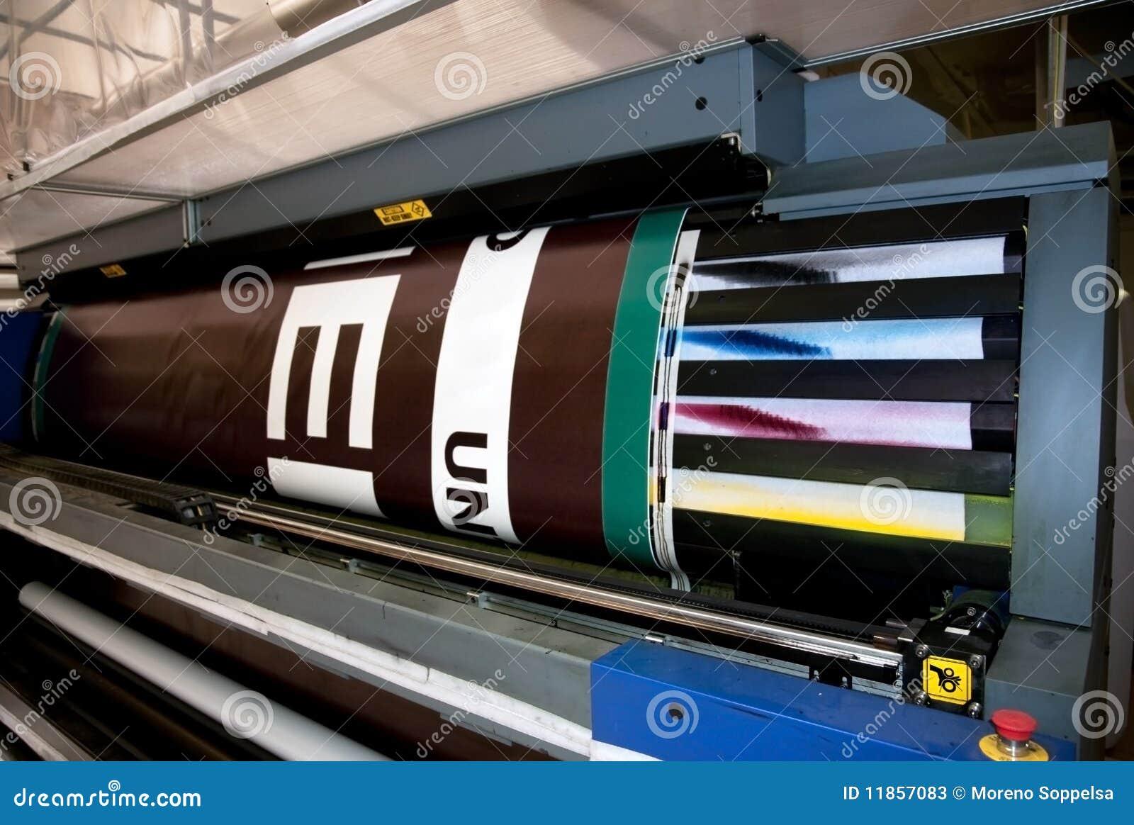 Impression de Digitals - presse large de format