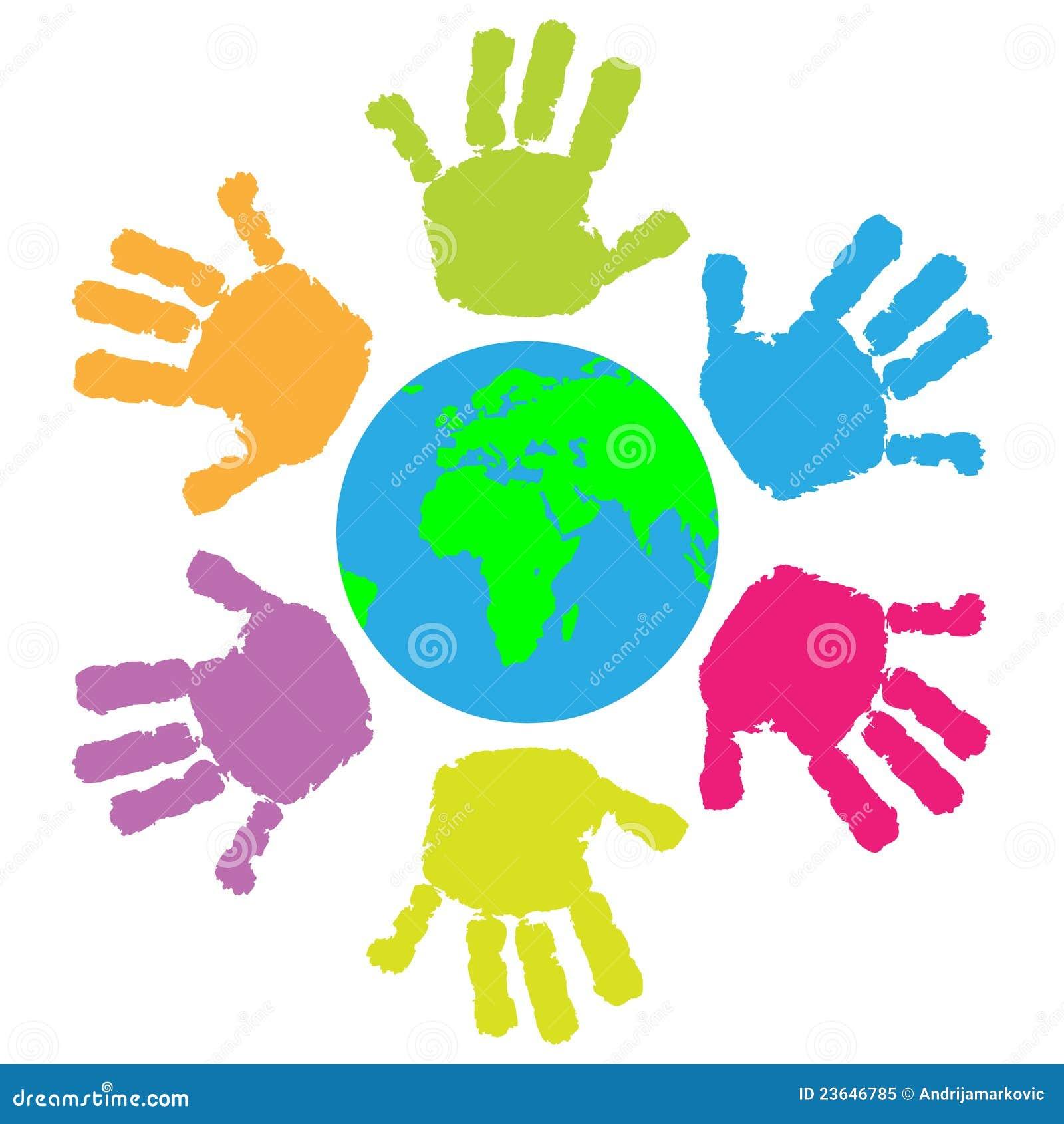 impression de main d enfants autour de la terre photo fingerprinting clip art fingerprint clip art black and white