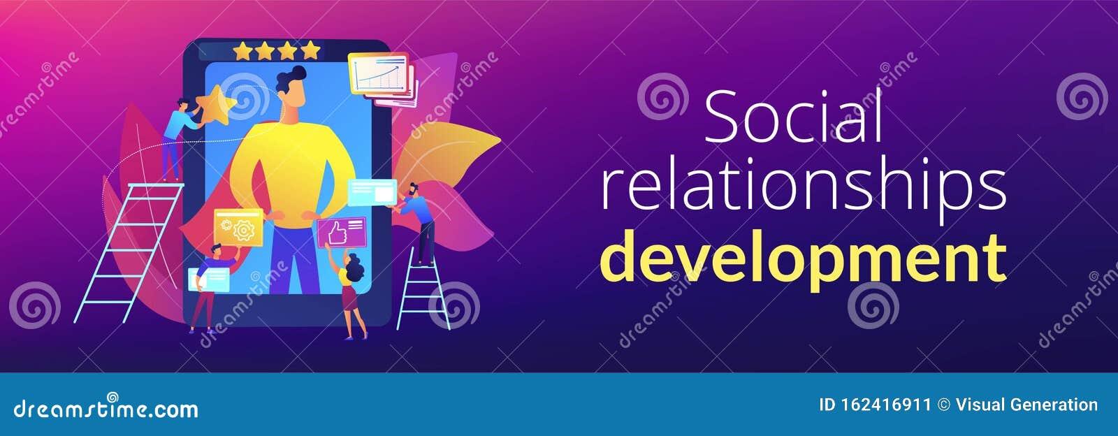 Impression Management Concept Banner Header Stock Vector Illustration Of Leader Media 162416911