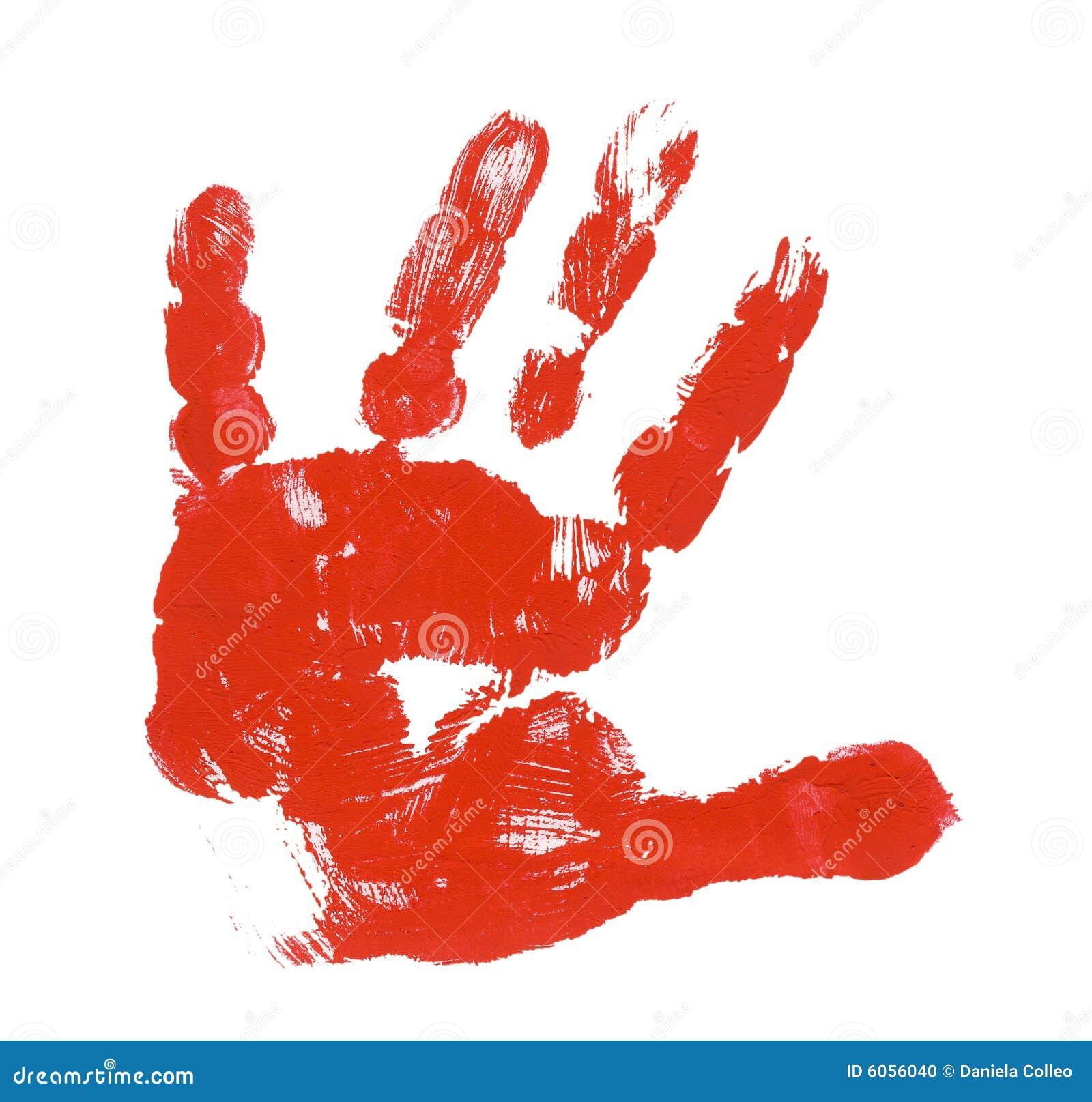 Impression rouge de main d 39 enfant photo stock image 6056040 - Peinture main enfant ...
