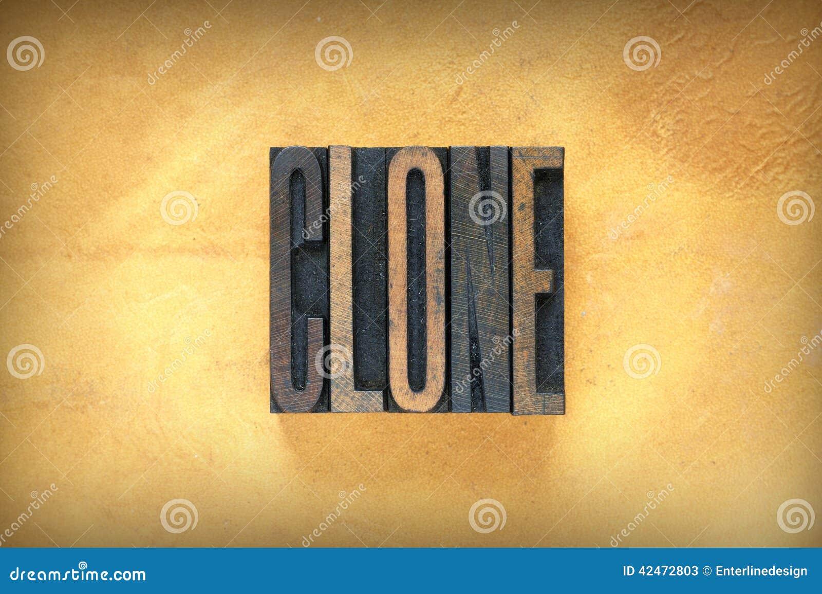 Impression typographique de clone